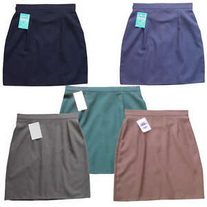 A-line Straight Pencil skirt school uniform black grey navy green ...