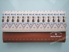 Original Betty Boop Clutch Long Wallet Purse Coins Bag Brown ~ NEW Free Shipping