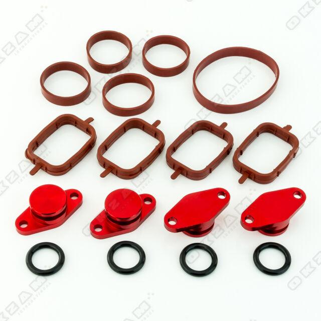 22mm Rouge Aluminium Spirale Clapet Remplacement Set + Torique Pour BMW 3 Neuf