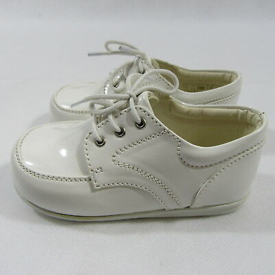 Childrens Boys Black White Formal Shoes Laces Infant Smart Wedding High Quality