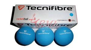 Tecnifibre bleu Racquetball boules (boîte de 3)  </span>