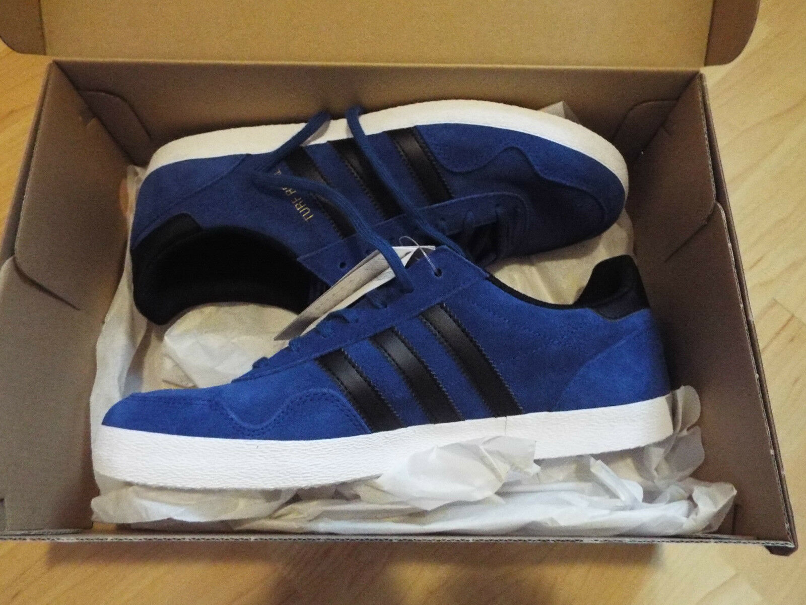 NEW & BOXED Adidas & Turf Royal in blue & Adidas black Size or 9 Europe 42 or 43.3 bbdf07