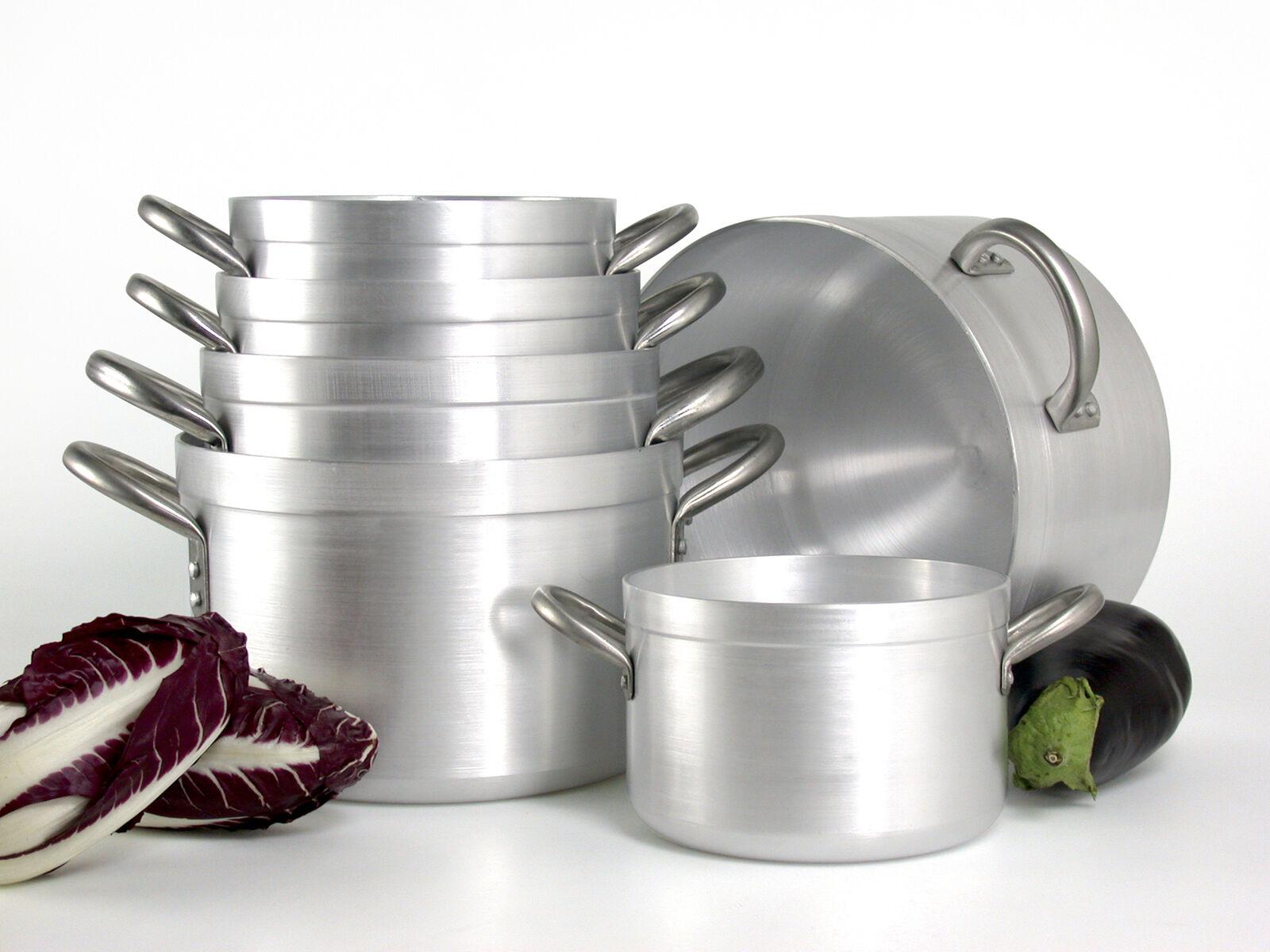 PARDINI Casseruola alluminio albergo alta 2 manici 15 pentola da cucina