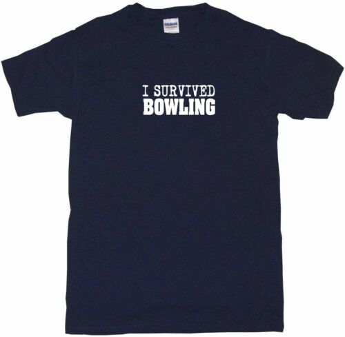 I Survived Bowling Mens Tee Shirt Pick Size Color Small-6XL