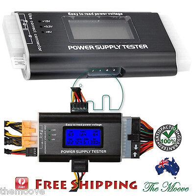 LCD COMPUTER PC POWER SUPPLY TESTER 20/24 4/6/8 PIN FOR SATA IDE HDD ATX ITX BTX