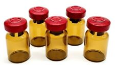 5ml Amber Glass Sterile Vials 10 Pack Free Shipping