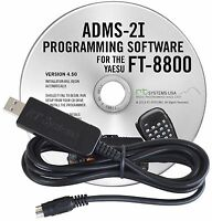 Rt Systems Programming Software & Usb Cable For Yaesu Ft-8800r