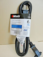 Cord Appl Replace 16//2x6ft Blk,No 292 Coleman Cable Inc