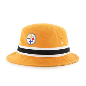 6db11e105 Image is loading Pittsburgh-Steelers-47-Brand-Bucket-Hat