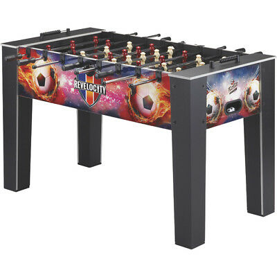 "Loyal Revelocity Foosball Table Game W/ Quick Snap Player Rods Wood 60"" L X 34"" W Strengthening Waist And Sinews Indoor Games"