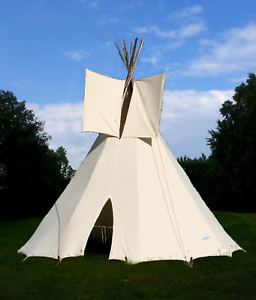 gro es outdoor kinder tipi wigwam kinderzelt indianer spielzelt zelt mit stangen ebay. Black Bedroom Furniture Sets. Home Design Ideas