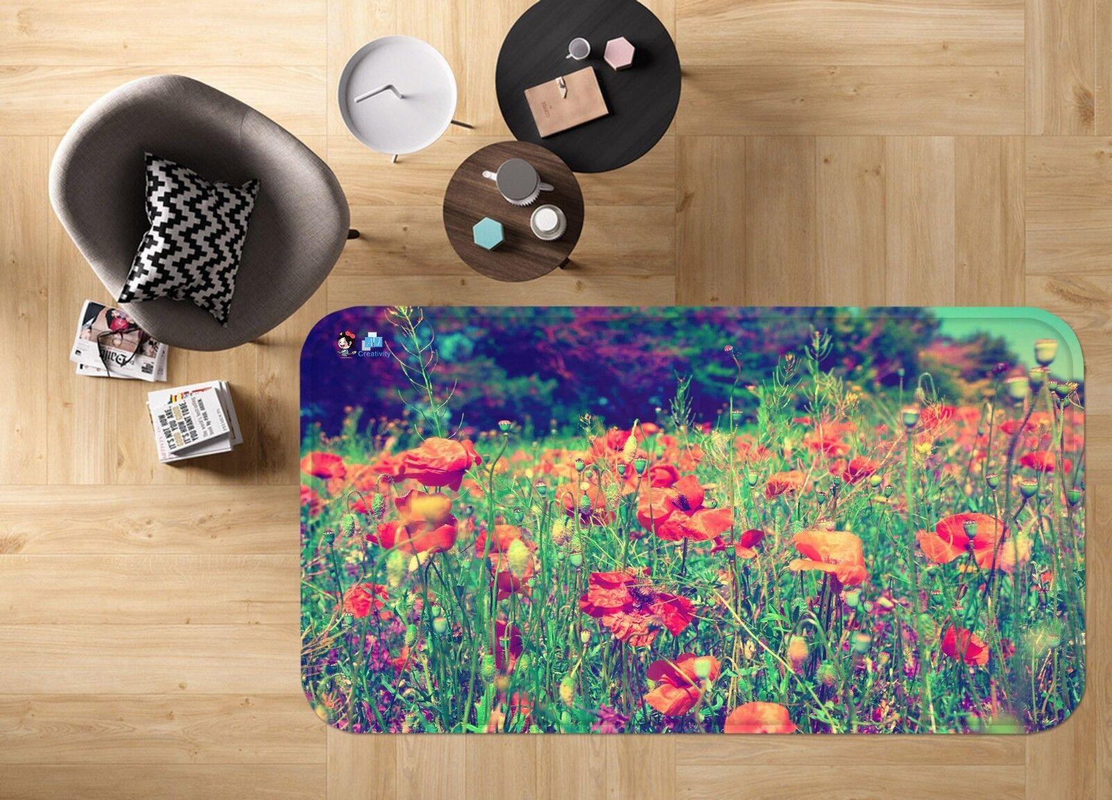 3D FIORI NATURALI 683 tappetino antiscivolo tappeto camera Tappetino Qualità Elegante foto Tappeto UK