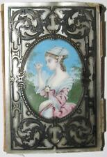 ca 1860 Antique French Victorian Silver & Mother of Pearl Girl's Note Book