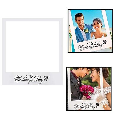 Wedding Day Selfie Photo Frame Booth Props DIY Anniversary Party Photography UK