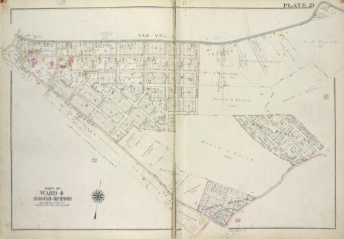 1917 STATEN ISLAND RICHMOND COUNTY JAIL NEW YORK COPY ATLAS MAP 10 /& 28 P.S