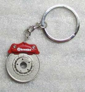 BREMBO-Red-CALIPER-Brake-Rotor-Disc-Metal-Alloy-KEY-CHAIN-Ring-Keychain-NEW