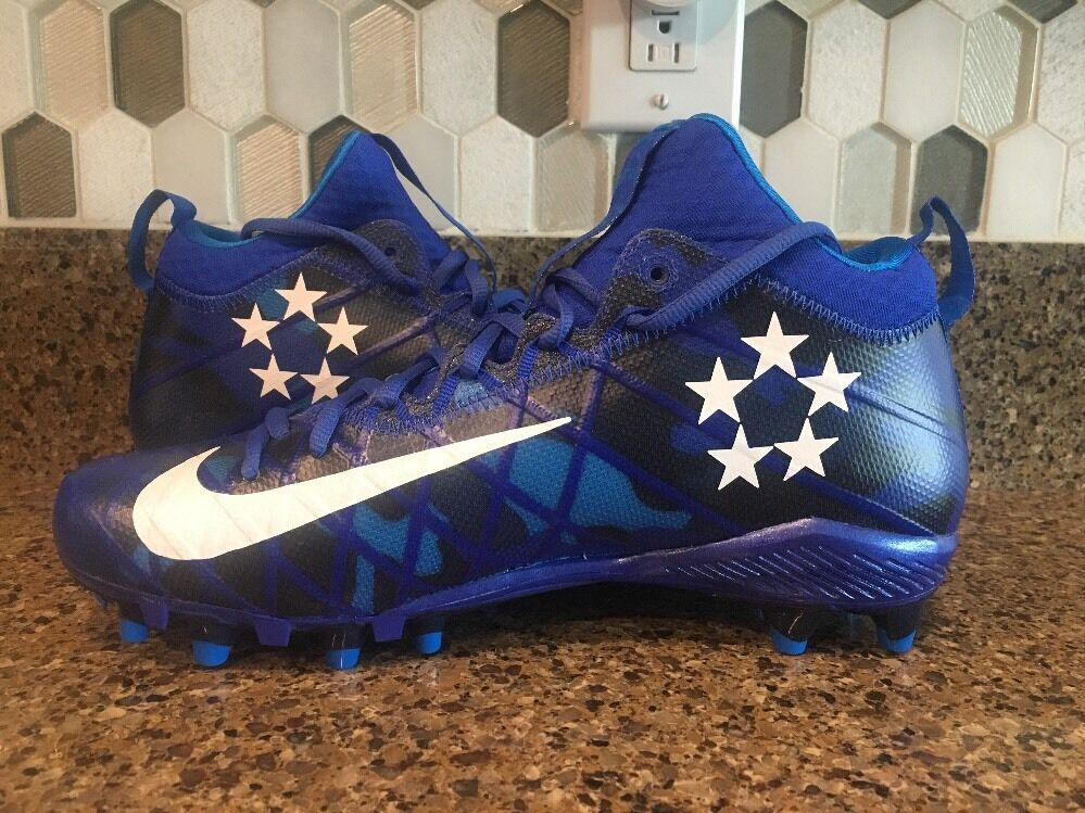 NIKE ALPHA FIELD GENERAL ELITE FOOTBALL CLEATS blueE 833390-410 Men Sz 12