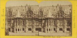 Rouen Palais Da Justice Francia Foto Stereo BK Parigi Vintage Albumina Ca 1870