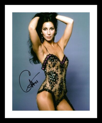 CHER AUTOGRAPHED SIGNED /& FRAMED PP POSTER PHOTO