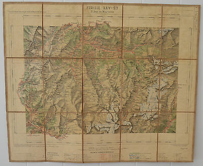 Carte de la France St.Jean de Maurienne Feuille XXV-27 Antique Map France 1896