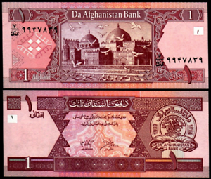 Afghanistan 1 Afghani 2002 Uncirculated Banknote Currency Money Note Bill Cash