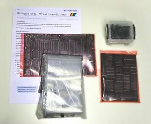 Harlequin-rev-G-ZX-Spectrum-clone-BLACK-board-LARGE-kit-with-all-parts-excl-ROM