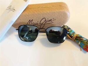 4956222f76250 New Maui Jim Spinnaker Polarized Sunglasses 545-2M Matte Black Gray ...