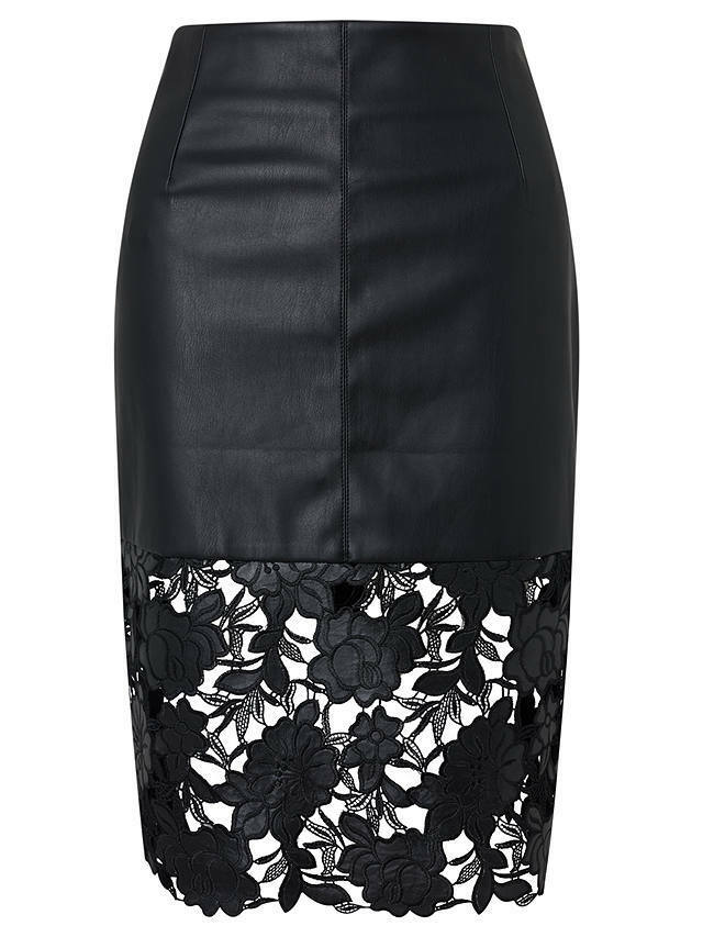 Darling London Suki Faux Leather Fitted Skirt Blk Size UK12 rrp  DH181 GG 18
