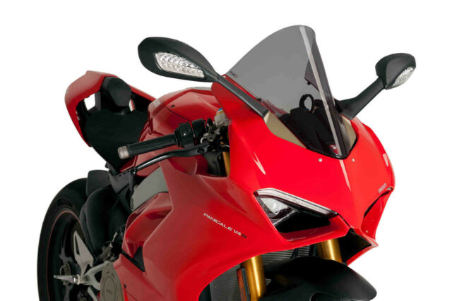 PUIG SCREEN RACING COMPATIBLE FOR DUCATI PANIGALE V4 1100 S 2020 DARK SMOKE