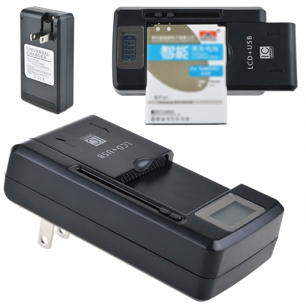 Universal Battery Charger for Optoma PK101 PK102 Pico Pocket Projector Battery