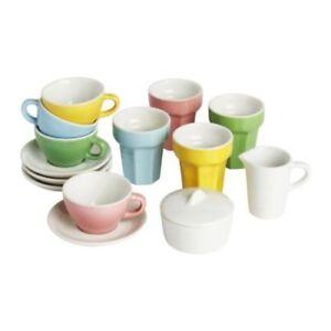 "IKEA Kinder-Kaffee-/Teeservice ""DUKTIG"" aus Steingut zehnteilig lebensmittelecht"