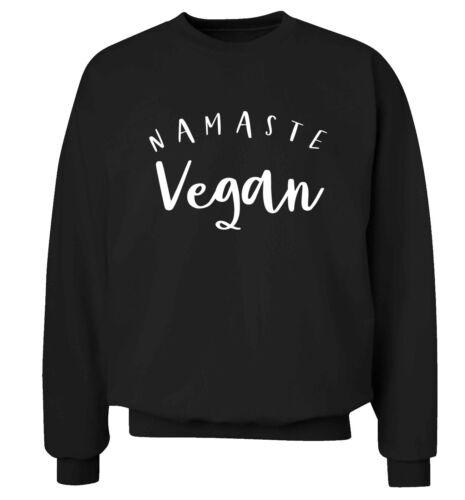 Namaste vegan sweatshirt food menu green healthy hipster gift  5502 hoodie