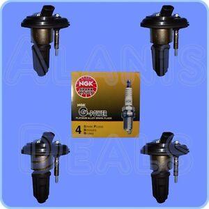 Set-of-4-NGK-5019-Spark-Plugs-4-Ignition-Coils-For-Chevrolet-GMC-Izusu-amp-More