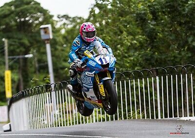 Lee Johnstone   2019 Isle of Man TT Supersport  Race A4 size photo
