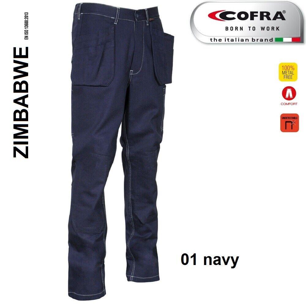 Immagine 8 - Pantaloni da lavoro COFRA modello ZIMBABWE 100% cotone 270 g/m² con ginocchiere