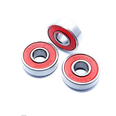 8pcs//set ABEC-7 608ZB Skateboard Longboard Bearing High Speed Ball Bearings red