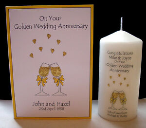 personalised golden 50th wedding anniversary gift set mum. Black Bedroom Furniture Sets. Home Design Ideas