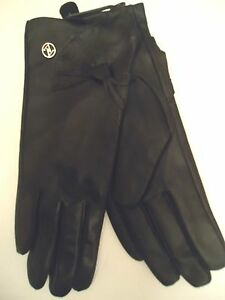 Adrienne-Vittadini-100-Cashmere-Lined-Genuine-Leather-Big-Bow-Gloves-Blk-S