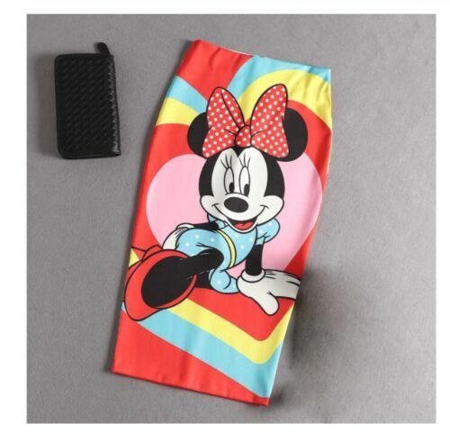 PENCIL SKIRT Minnie Mouse with Bow High Waist