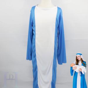 VIRGIN MARY NATIVITY PLAY CHILD GIRLS FANCY DRESS CHRISTMAS COSTUME