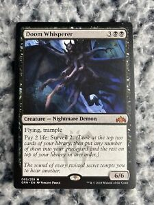 Doom Whisperer Collectible Card Games Collectables & Art research ...