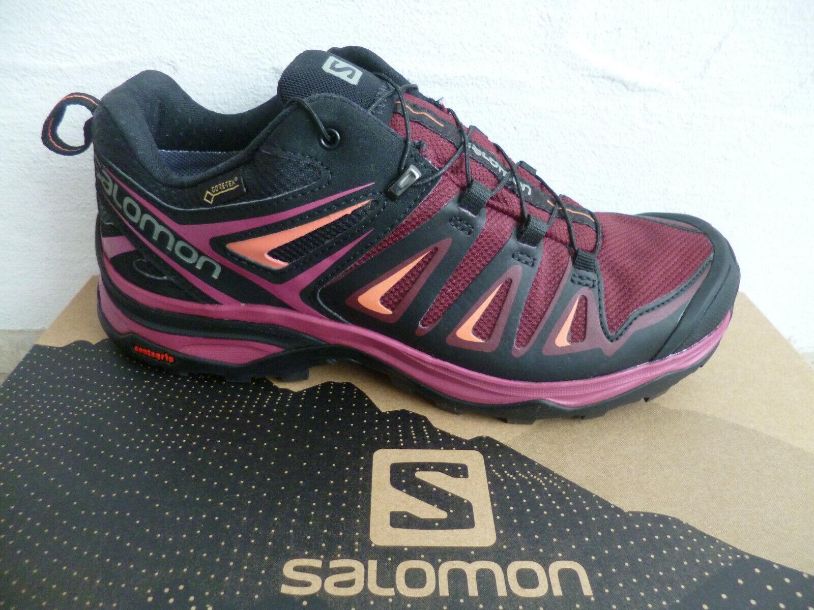Salomon X Ultra 3 Gtx W Sport Chaussures Basses Baskets Bordeaux Neuf!!!