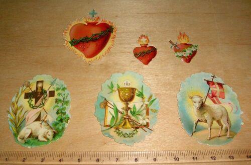 Oblatenbild heilige Symbole Set 2586 Prägung Antik Scrub Weihnacht Glanzbild 6