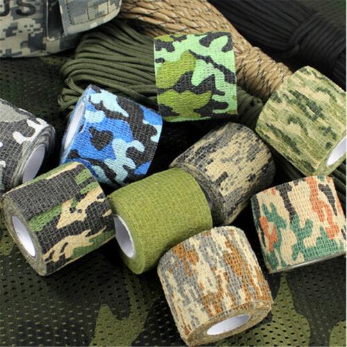 Camouflage Ruban Adhesif-Militaire-Wrap-Tissu-Bande Tissé Armée-Jungle-Mode