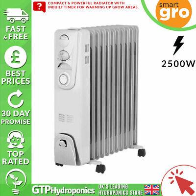 Radiatore Riscaldatore Riempita Di Olio Con Timer - 2500 W - 11 Fin-smartgro-portatile Silenzioso- Pregevole Fattura