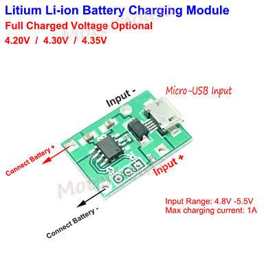 5V 1S 3.7V 18650 Lithium Battery 4.2V Charger Charging Module Board Low Current