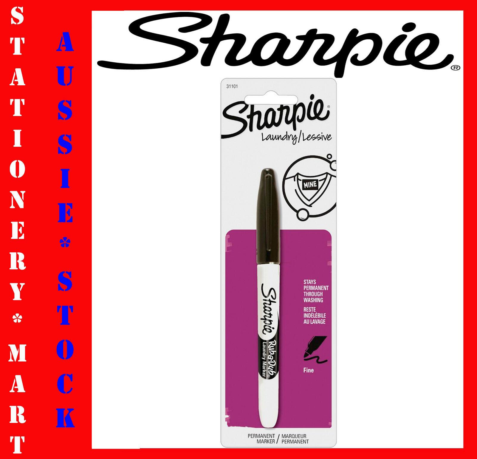 Fine Tip Sharpie Rub-a-Dub Laundry Marking Pen Black