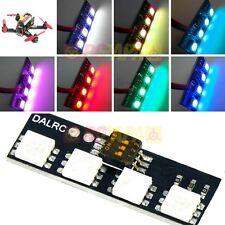 Dalrc Mini LED lumière strip Board 12V RGB 7 couleur pour fpv drone nuit quad course