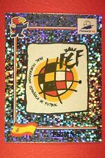 PANINI WC WM FRANCE 98 1998 229 ESPANA BADGE WITH BLACK BACK MINT!!
