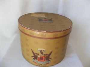 vintage knox new york hat box with graphics oval 1947 delivery